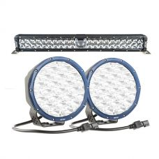 "Adventure Kings 24"" Laser Light Bar + Kings Domin8r X 7"" Driving Lights fitted with OSRAM LEDs (Pair)"
