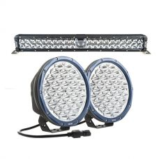 "Adventure Kings 24"" Laser Light Bar + Kings Domin8r X 9"" Driving Lights fitted with OSRAM LEDs (Pair)"