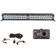 "Adventure Kings 24"" Laser Light Bar + Wiring Harness + Dash Camera"