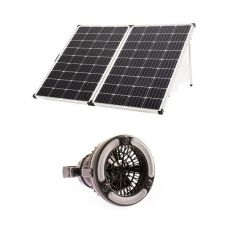 Adventure Kings 250w Solar Panel + 2in1 LED Light & Fan
