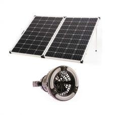 Kings Premium 250w Solar Panel with MPPT Regulator + 2in1 LED Light & Fan