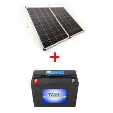 250W Portable Solar Panel incl regulator   + AGM Deep Cycle Battery 98AH