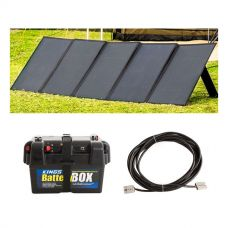 Adventure Kings 250W Solar Blanket with MPPT Regulator + Battery Box  + 10m Lead For Solar Panel Extension