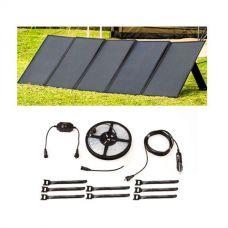 Adventure Kings 250W Solar Blanket +  4-Metre 12v LED Camping Strip Light