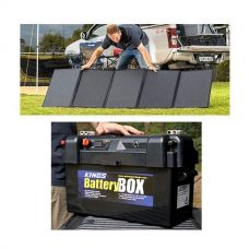 Adventure Kings 250W Solar Blanket + Maxi Battery Box