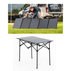Adventure Kings 250W Solar Blanket + Kings Portable Alloy Camping Table
