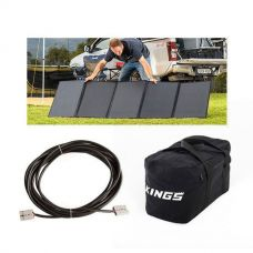 Adventure Kings 250W Solar Blanket + 10m Lead For Solar Panel Extension + 40L Duffle Bag