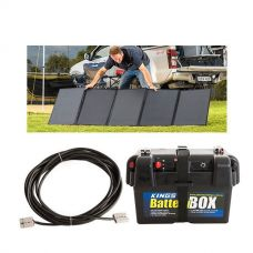 Adventure Kings 250W Solar Blanket + 10m Lead For Solar Panel Extension + Battery Box