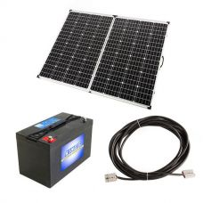 Adventure Kings 250w Solar Panel + AGM Deep Cycle Battery 115AH + 10m Lead For Solar Panel Extension