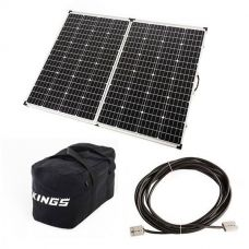 Adventure Kings 250w Solar Panel + 40L Duffle Bag + 10m Lead with Solar Panel Extension