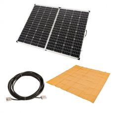 Adventure Kings 250w Solar Panel + Mesh Flooring 3m x 3m + 10m Lead with Solar Panel Extension