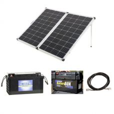 250W Portable Solar Panel + 138Ah AGM Deep-Cycle Battery + Maxi Battery Box + 10m Lead with Solar Panel Extension