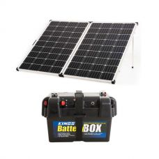 Kings Premium 250w Solar Panel with MPPT Regulator + Adventure Kings Battery Box
