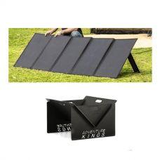 Adventure Kings 250W Solar Blanket with MPPT Regulator + Kings Portable Steel Fire Pit