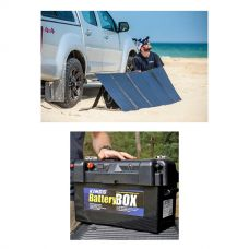 Adventure Kings 250W Solar Blanket with MPPT Regulator + Maxi Battery Box