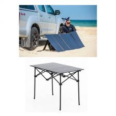 Adventure Kings 250W Solar Blanket with MPPT Regulator + Portable Alloy Camping Table