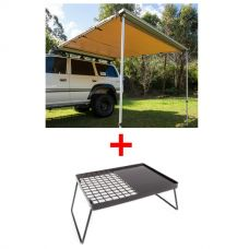 Adventure Kings Awning 2.5x2.5m + Essential BBQ Plate