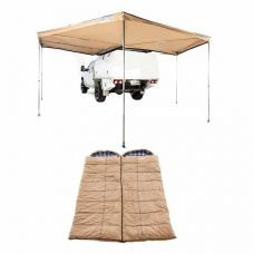 King Wing Deluxe 270° Wrap-Around Awning + 2x Adventure Kings Premium Sleeping bag -5°C to 5°C Degrees Celsius - Left and Right Zipper