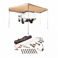 King Wing Deluxe 270° Wrap-Around Awning + Illuminator 4 Bar Camp Light Kit