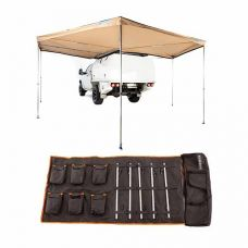 King Wing Deluxe 270° Wrap-Around Awning + 5 Bar Camp Light Kit