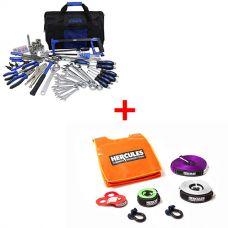 Hercules Essential Nylon Recovery Kit + Adventure Kings Ultimate Bush Mechanic Toolkit