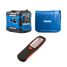 Adventure Kings 2KVA Generator Closed Case + 2KVA Generator Cover + Illuminator 24 LED Work Light