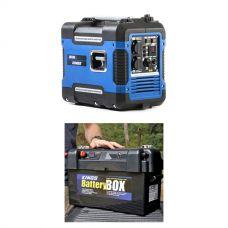 Adventure Kings 2KVA Generator Closed Case + Maxi Battery Box