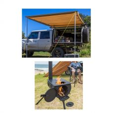 Adventure Kings Awning 2x3m + Camp Oven/Stove