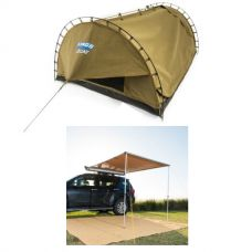 Adventure Kings Double Swag Big Daddy Deluxe + 2 x 2.5m 2 in 1 Awning + Strip Light