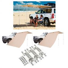 Adventure Kings Awning 2x2.5m + Awning Mounting Brackets (Pair) + 2x Awning Side Wall