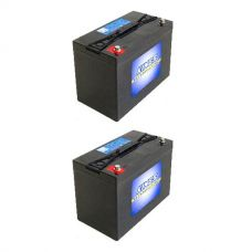 2x Adventure Kings AGM Deep Cycle Battery 115AH
