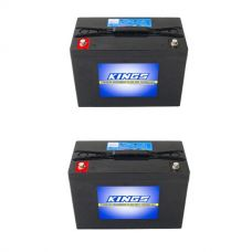 2x Adventure Kings AGM Deep Cycle Battery 98AH