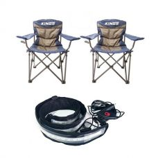 2x Adventure Kings Throne Camping Chair + Illuminator MAX LED Strip Light