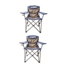 2x Adventure Kings Throne Camping Chair