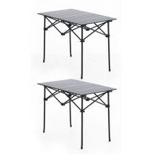2x Adventure Kings Aluminium Roll Up Camping Table