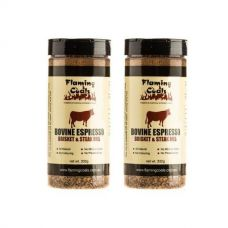 2x Flaming Coals Bovine Espresso Brisket & Steak Rub