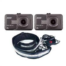2x Adventure Kings Dash Camera + LED Strip Light