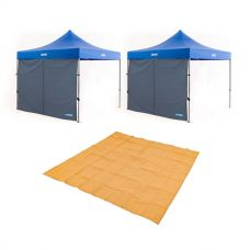 2x Adventure Kings Gazebo Side Wall + Adventure Kings Mesh Flooring 3m x 3m