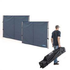 2x Adventure Kings Gazebo Side Wall + 3x3m Wheeled Gazebo Bag