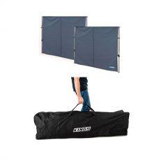 2x Adventure Kings Gazebo Side Wall + 6x3m Polyester Gazebo Bag
