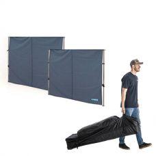 2x Adventure Kings Gazebo Side Wall + 6x3m Wheeled Gazebo Bag