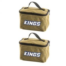 2x Adventure Kings Toiletry Canvas Bag