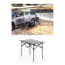 2 x 2.5m 2 in 1 Awning + Strip Light + Alloy Camping Table