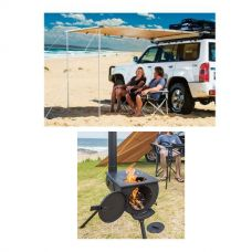 Adventure Kings Awning 2x2.5m + Camp Oven Stove
