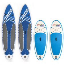 2x Adventure Kings Inflatable Stand-Up Paddle Board + 2x Kids Inflatable Stand-Up Paddle Board