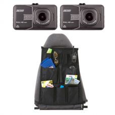 2x High-Def Dash Camera + Car Seat Organiser
