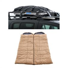 2x Premium Winter/Summer Sleeping Bag -5°C to +5°C + Half-Length Premium Waterproof Rooftop Bag
