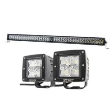 "Kings 30"" Laser Light Bar + 3"" LED Work Light - Pair"