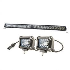 "Kings 30"" Laser Light Bar + 4"" LED Light Bar"
