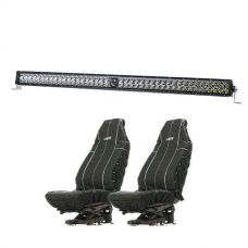 "Kings 30"" Laser Light Bar + Heavy Duty Seat Covers (Pair)"